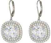 Nina Haloed Square Cushion Cut Leverback Earrings Earring
