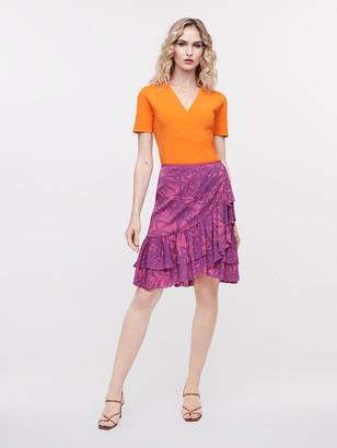 Diane von Furstenberg Paloma Mesh Mini Skirt