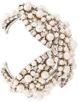Saint Laurent pearl and rhinestone cuff