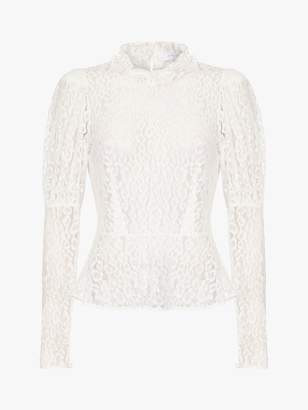 Ghost Lecice Sheer Lace Blouse