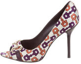 Gucci Horsebit Peep-Toe Pumps