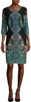 Ronni Nicole Multi-Scroll Print Shift Dress