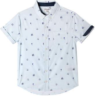 Parker Art & Eden Beach Icon Print Short-Sleeve Collared Shirt, Size 2-10