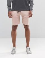 Asos Jersey Shorts In Light Pink