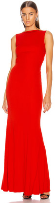 Alexander McQueen Long Jersey Dress in Lust Red | FWRD