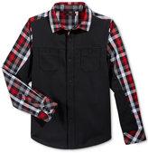 Sean John Woven Solid Front Shirt, Toddler Boys (2T-5T) & Little Boys (2-7)
