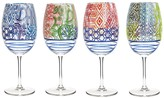 Jay Import Multicolor Wine Goblet - Set of 4