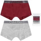 Calvin Klein Calvin KleinBoys Grey & Burgundy Boxer Shorts Set (2 Pack)