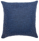 Ted Baker Blue Beauty Collection French Knot-Bordered Faux-Linen Square Pillow