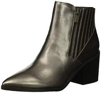 Kenneth Cole Reaction Women's Cue Up Block Heel Pointed Toe Ankle Bootie Boot