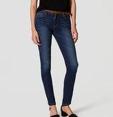 LOFT Curvy Skinny Jeans in Dark Indigo Wash