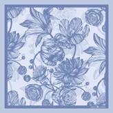 The Tulip & Peony Pocket Square Blue
