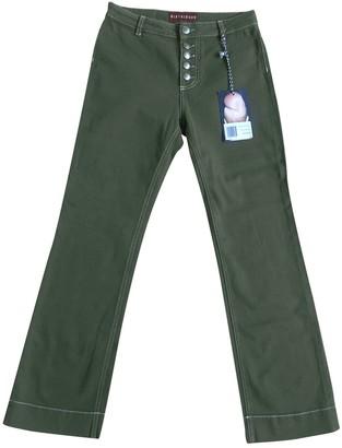 ALEXACHUNG Alexa Chung Khaki Cotton - elasthane Jeans for Women