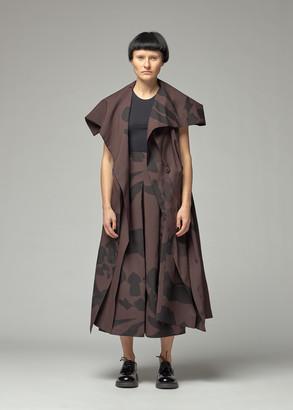 Issey Miyake Women's Bold Print Vest Jacket in Brown Size 2