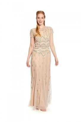 Hailey Logan Beaded Bouson Gown