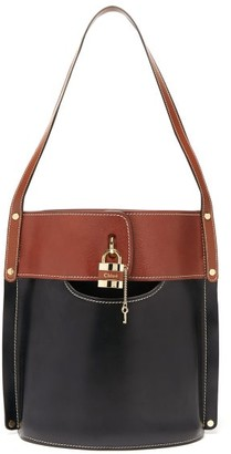 Chloé Aby Large Leather Bucket Bag - Black