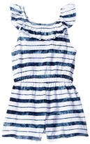 Splendid Littles Indigo Striped Tie-Dye Peasant Romper Girl's Jumpsuit & Rompers One Piece