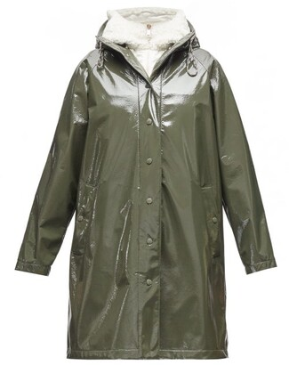 Moncler Pott Pvc Hooded Raincoat - Khaki