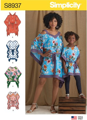 Simplicity Women's and Children's Kaftans Sewing Pattern, 8937