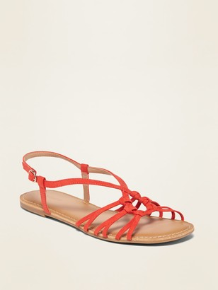 Old Navy Faux-Suede Circular Strappy Sandals for Women