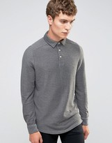 Selected Homme Long Sleeve Twill Polo
