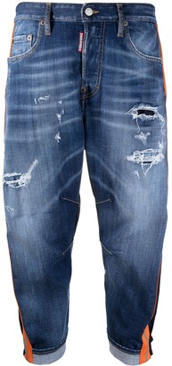 DSQUARED2 Contrast-Trim Cropped Jeans