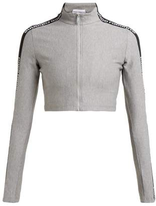 Paco Rabanne Logo-jacquard Zip-through Jacket - Womens - Grey