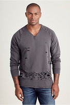 True Religion Russell Westbrook Destroyed Mens Sweatshirt