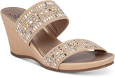 Impo Verill Embellished Wedge Sandals Women's Shoes