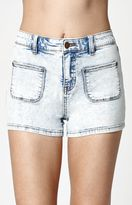 Billabong That 70s Memory High Rise Denim Shorts