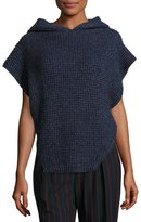 See by Chloe Hooded Cable-Knit Pullover Sweater, Navy