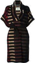 Fendi striped belted coat