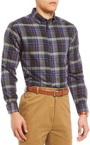 Daniel Cremieux Signature Heather Plaid Long-Sleeve Woven Shirt