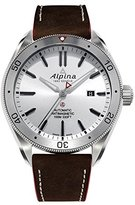Alpina Men's 'Alpiner 4' Automatic Stainless Steel and Leather Casual Watch, Color:Brown (Model: AL-525SS5AQ6)