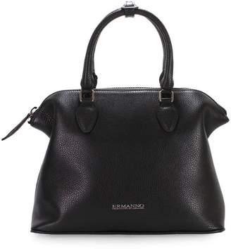 Ermanno Scervino Bugatti Daniela Black Leather Tote Bag