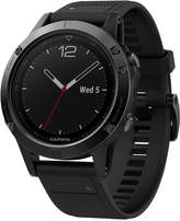 Garmin Men's fenix 5 Multisport Black Silicone Band Smart Watch 47mm 010-01688-10