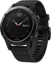 Garmin Men's fenix 5 Multisport Black Silicone Band Smart Watch 47mm 010-01688-10