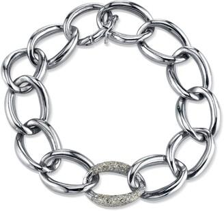 Sheryl Lowe London Sterling & Diamond Link Bracelet