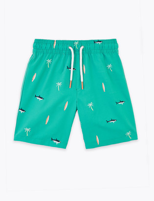 Marks and Spencer Shark Swim Shorts (2-7 Years)