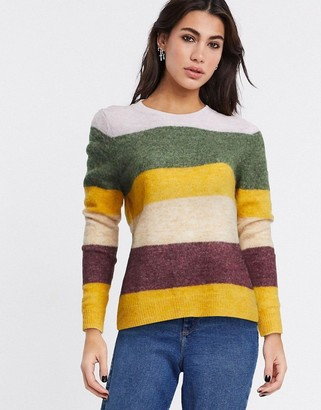 Only Susi long sleeve stripe jumper