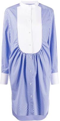 MSGM Striped-Print Shirt Dress