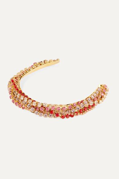 LELET NY Gold-plated Crystal Headband - one size