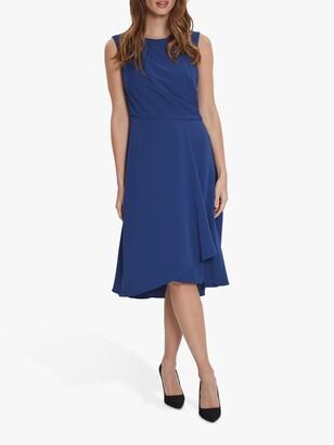 Gina Bacconi Avalina Wrap Dress, Navy