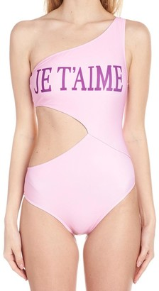 Alberta Ferretti One-Shoulder Swimsuit