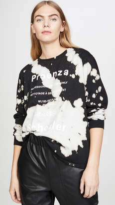 Proenza Schouler White Label Long Sleeve Tie Dye T Shirt