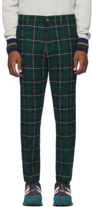 Leon Aime Dore Green Wool Plaid Trousers