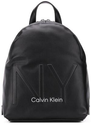 Calvin Klein Zip-Around Logo Backpack