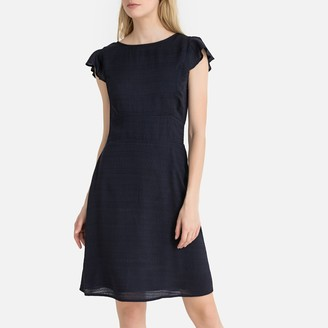 La Redoute Collections Ruffled Sleeve Open Back Dress