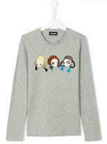 DSQUARED2 long sleeve doll motif shirt
