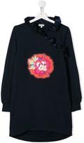Kenzo ruffled flower-patch dress